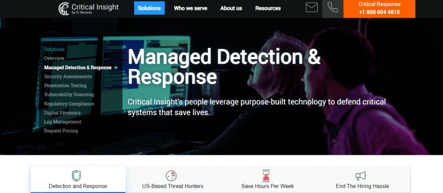 Critical Insight MDR Software